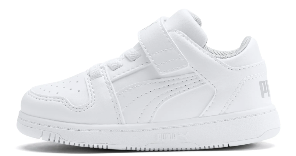 solid white sneaker