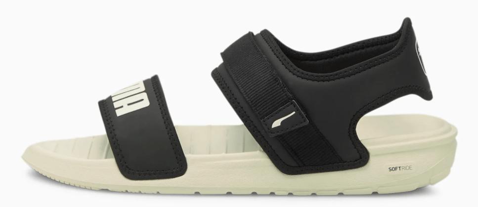 black and tan sandal