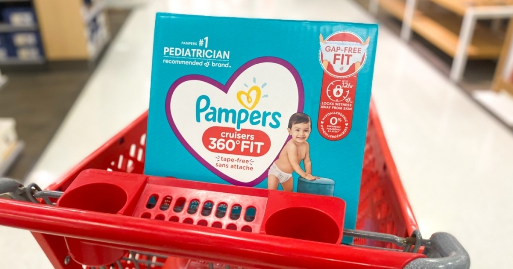 pampers 360 fit diapers in target cart