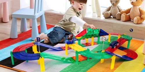Picasso Tiles 50-Piece Race Car Track Set Only $47.99 Shipped on Amazon (Regularly $120)