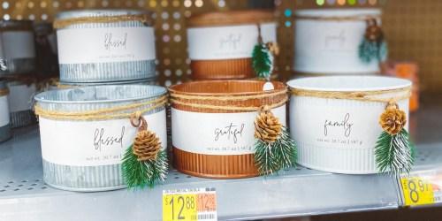 Giftable 3-Wick Tin Christmas Candles 20.7oz Just $12.88 at Walmart