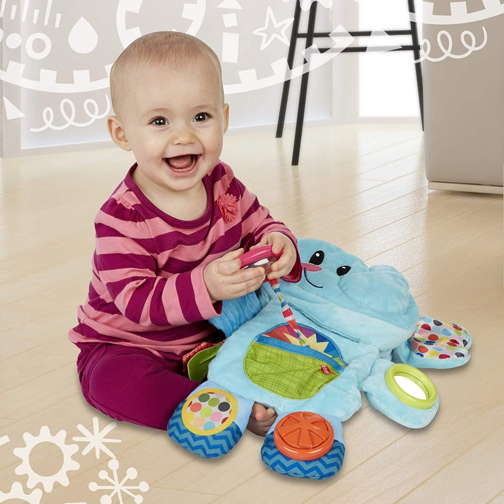 baby playing with Playtime Tummy Time Toy