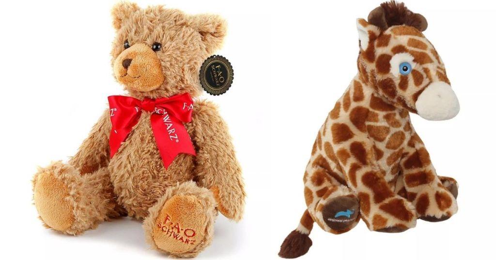 Plush Bear and Giraffe