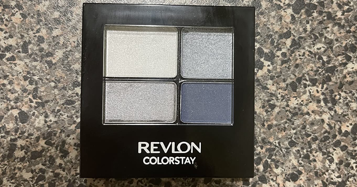 eyeshadow quad on marble counter