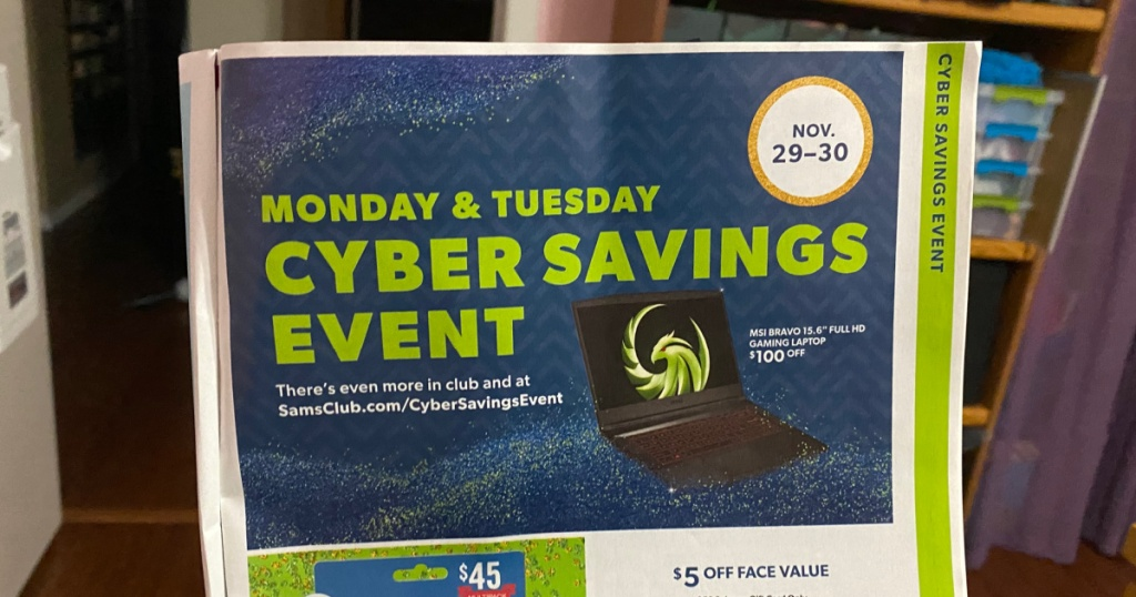 Sam's Nine Cyber Savings Case Runs November 29th – 30th | Preview The Champion Offers