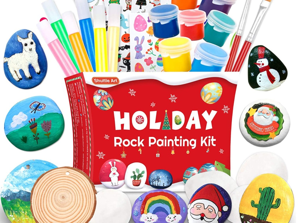 Shuttle Art Rock Painting Kit, Rock Painting Arts and Crafts Supplies