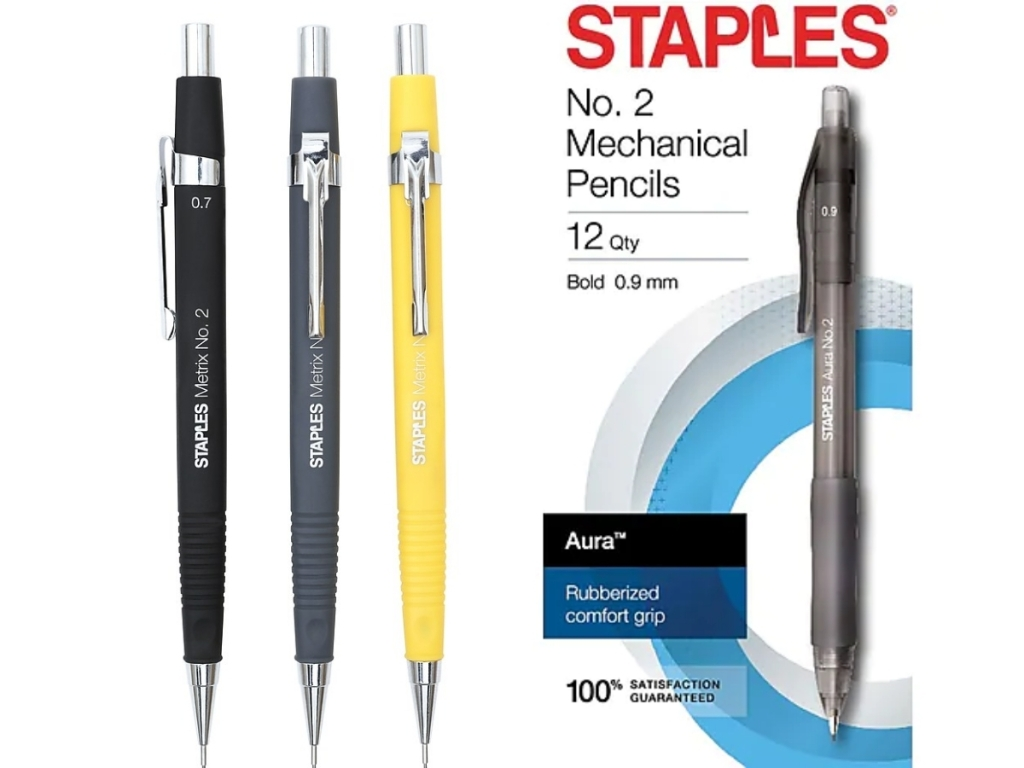 staples metrix pencils and aura pencils assortment