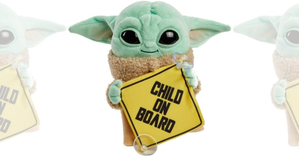 "Star Wars Grogu Plush ""Child on Board"" Sign"