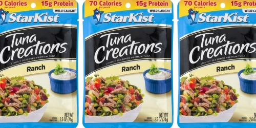 StarKist Tuna Creations 12-Pack Only $8.65 Shipped on Amazon (Regularly $12) | Just 72¢ Per Pouch
