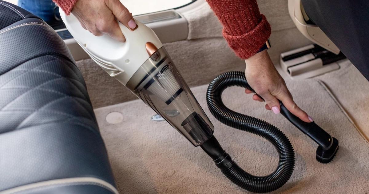 thisworkx white handheld car vacuum with attachment