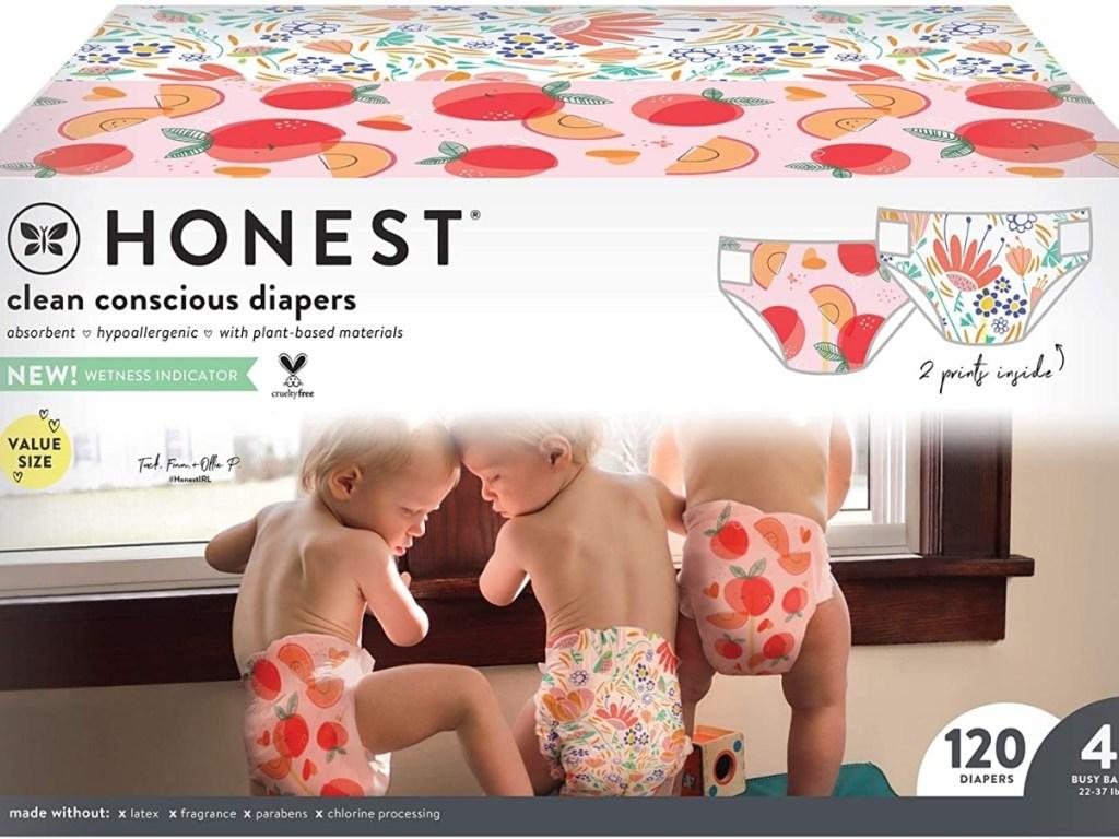 box of 120 clean conscious diaper box the honest company