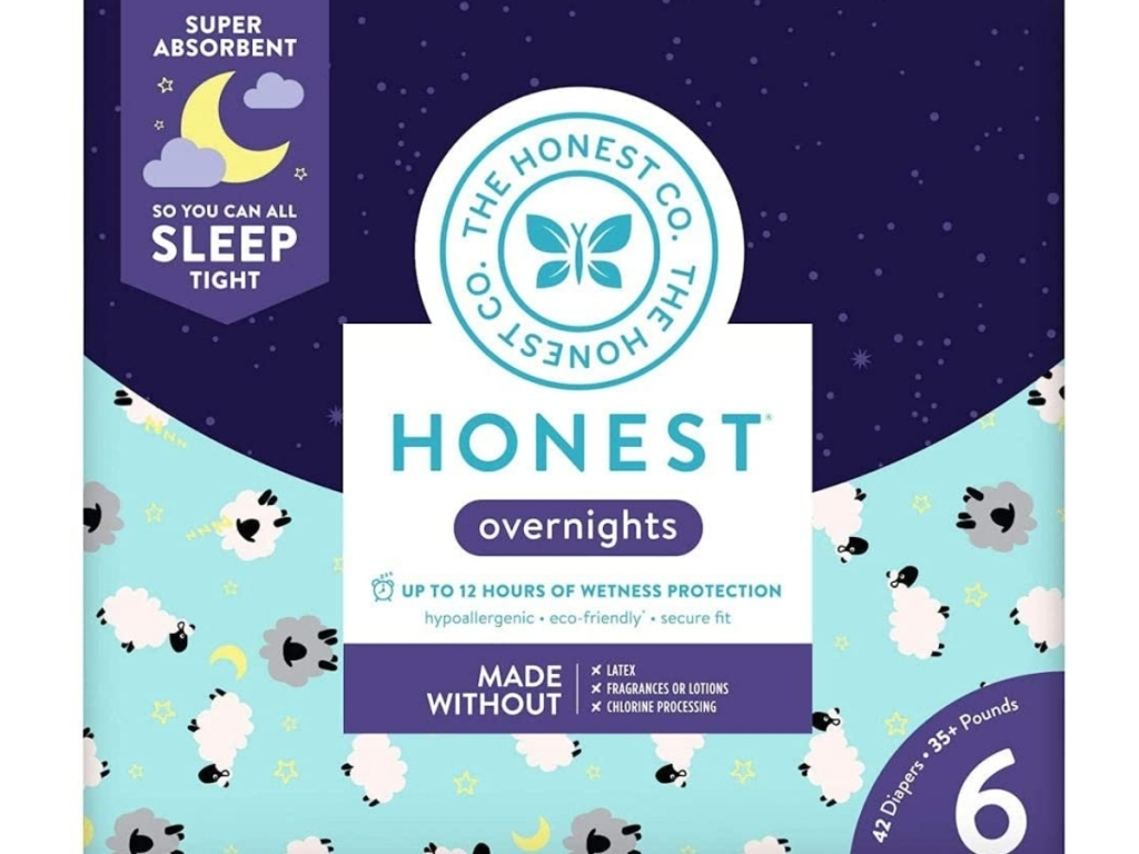 the honest company overnight sleepy sheep diapers