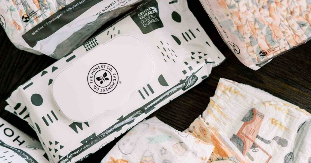 the honest company wipes with diapers