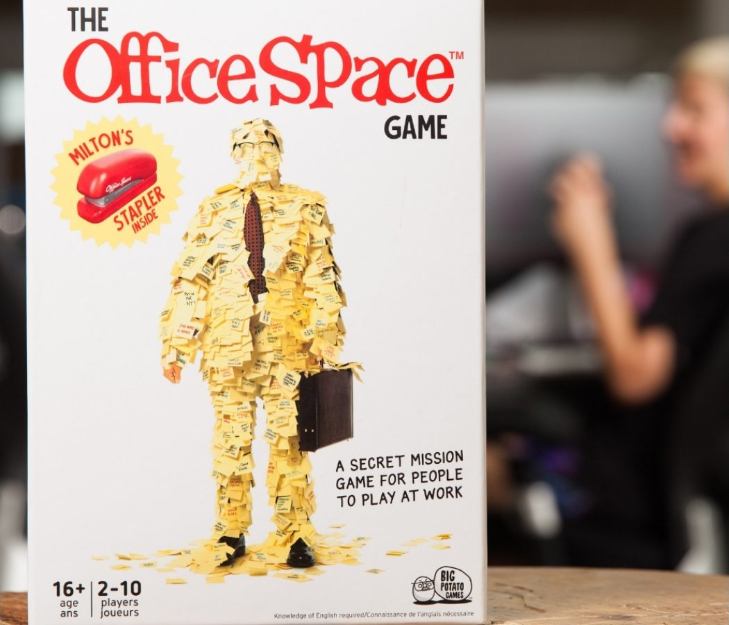 the office space board game on table