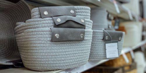 Threshold Decorative Storage Baskets from $6.40 on Target.com