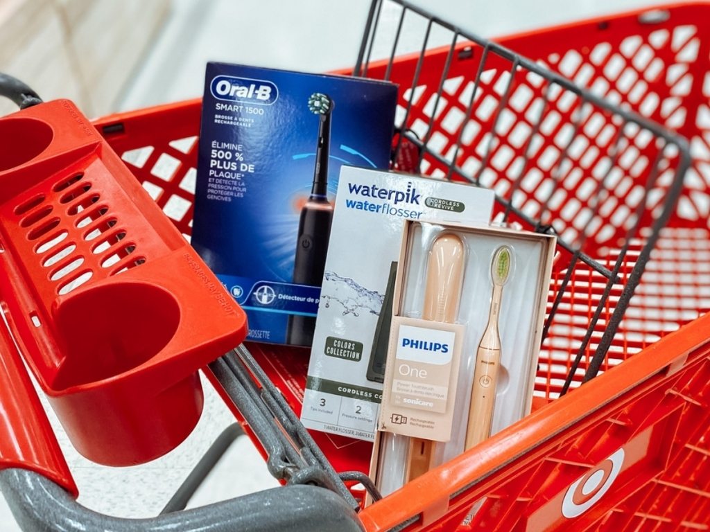 oral-b, waterpik and philips sonicare toothbrush