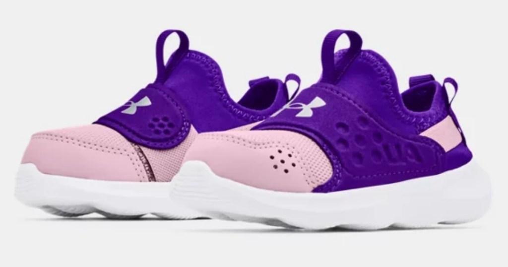 under armour purple girls infant shoes