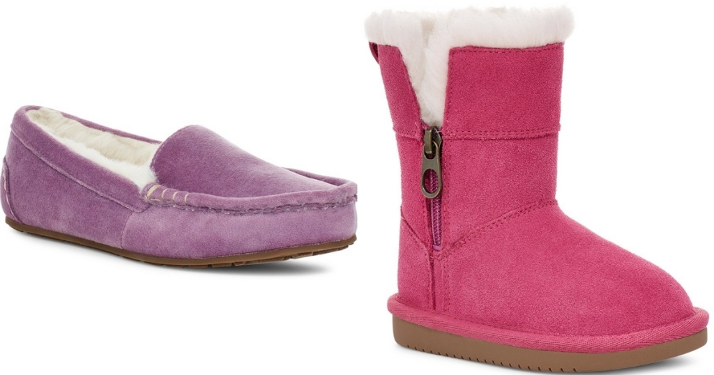 ugg slippers and side zip boot