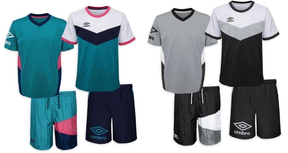 Umbro Boys Soccer Jerseys and Shorts 4-Piece Set