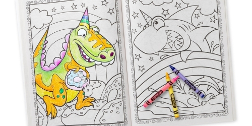 Crayola 96-Page Coloring Books w/ Stickers Only $1.99 on Amazon   Blue's Clues, Disney, Uni-Creatures, & More