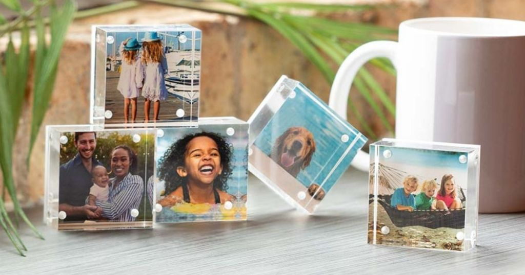 group of Walgreens Acrylic Photo Blocks