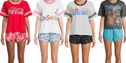 Women's 3-Piece Pajama Set from $7.43 on Walmart.com (Regularly $15) | Disney, Pac-Man, Mario, & More
