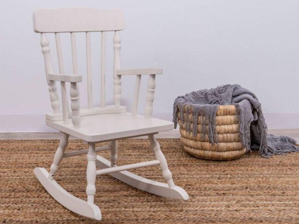 White Kids Rocking Chair