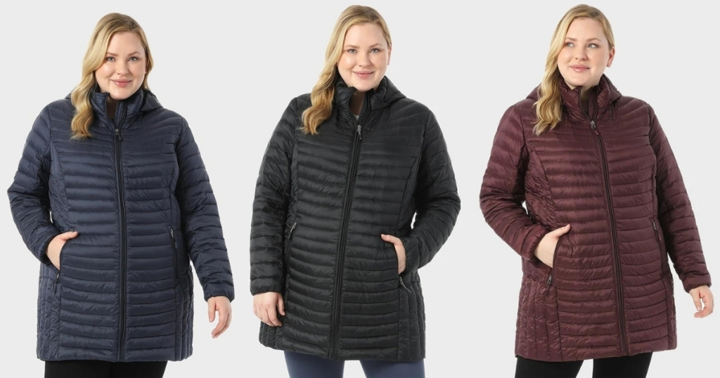 Women's Plus-Size Ultra-Light Packable Down 3/4 Jacket