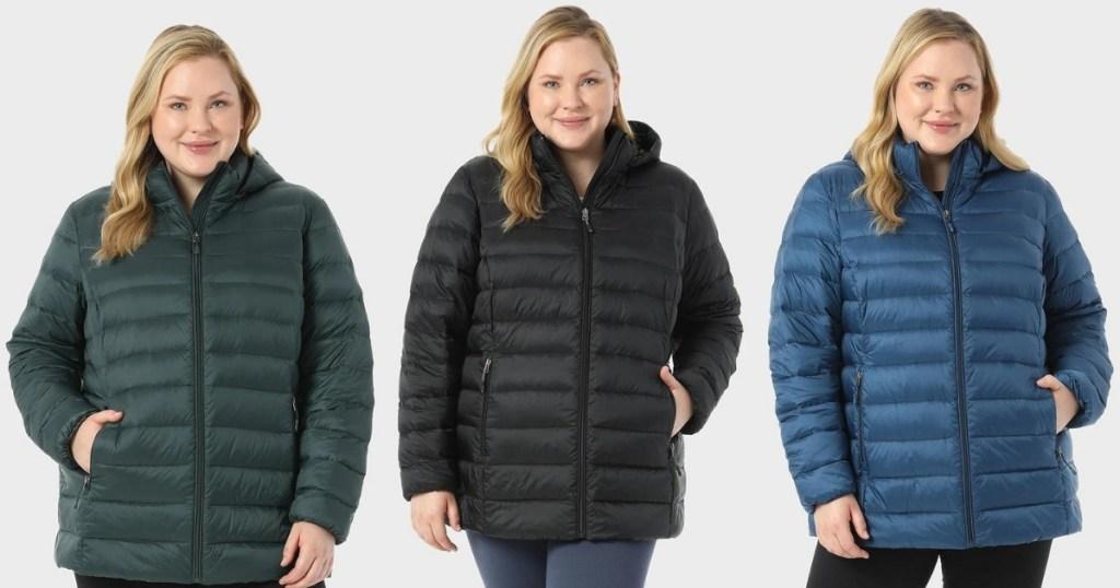 Women's Plus-Size Ultra-Light Packable Down Jacket