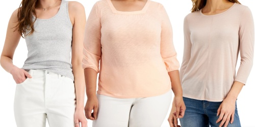 Women's Style & Co Shirts from $3.64 on Macy's.com (Regularly $13)