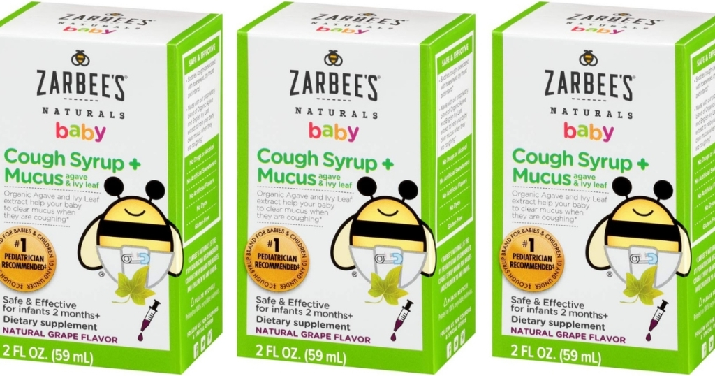 Zarbee's Naturals Baby Cough Syrup 2oz Bottle in Grape Flavor