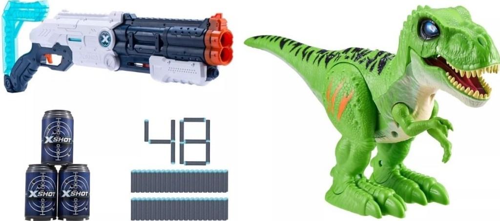 Zuru Blaster and Dinosaur