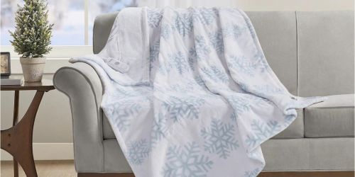 Holiday Heated Plush Throw Only $29.99 Shipped on Macys.com (Regularly $100)