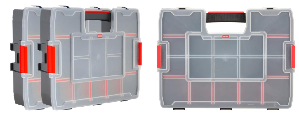 2 pack plastic container side view and front view