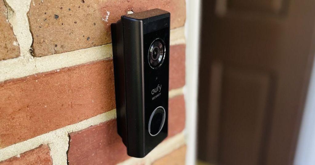 video doorbell on a wall