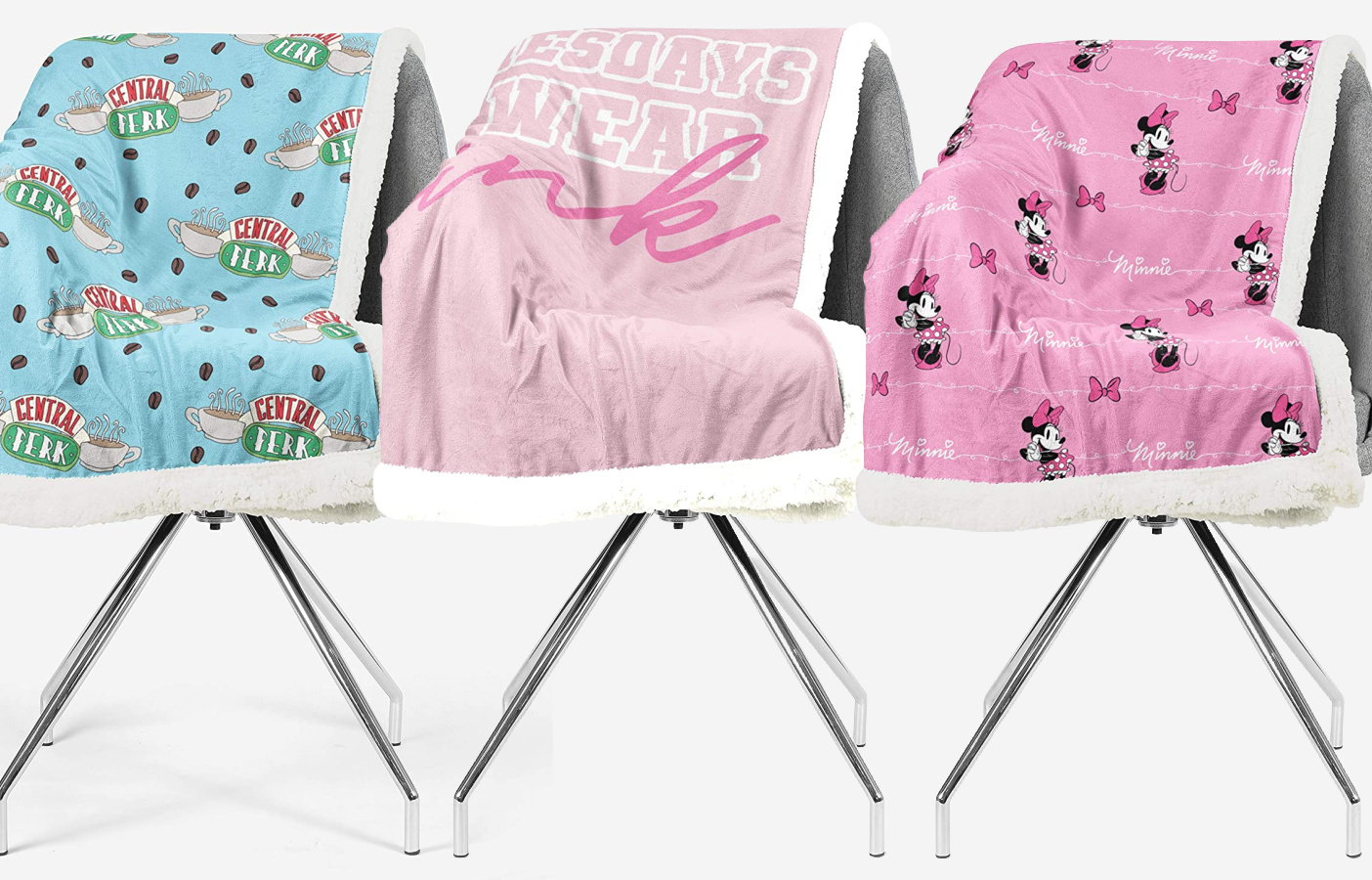 friends and mean girls sherpa blankets-2