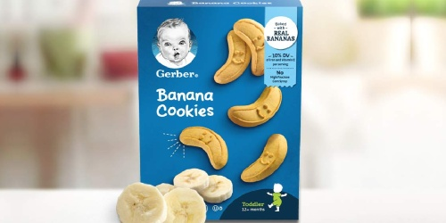 Gerber Banana Cookies 12-Pack Just $14 Shipped on Amazon (Only $1.18 Per Box)