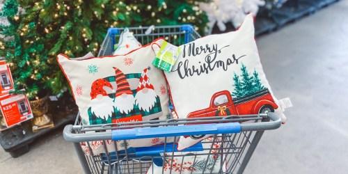 Holiday Throw Pillows Just $5 at Walmart | Gnomes, Cacti, Vintage Trucks, & More