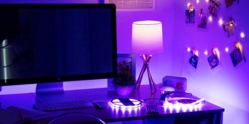 Google Nest Mini + Smart LED Light Strip ONLY $19 on Walmart.com (Regularly $49) | Great Teen Gift Idea