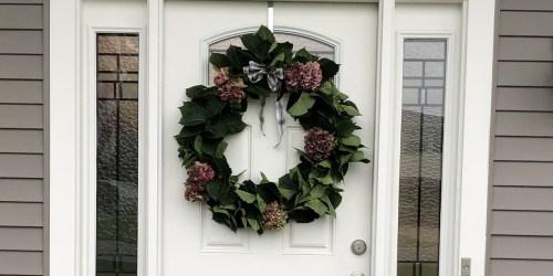 This Reader Created Her Own Seasonal Wreath Made of Hydrangeas!