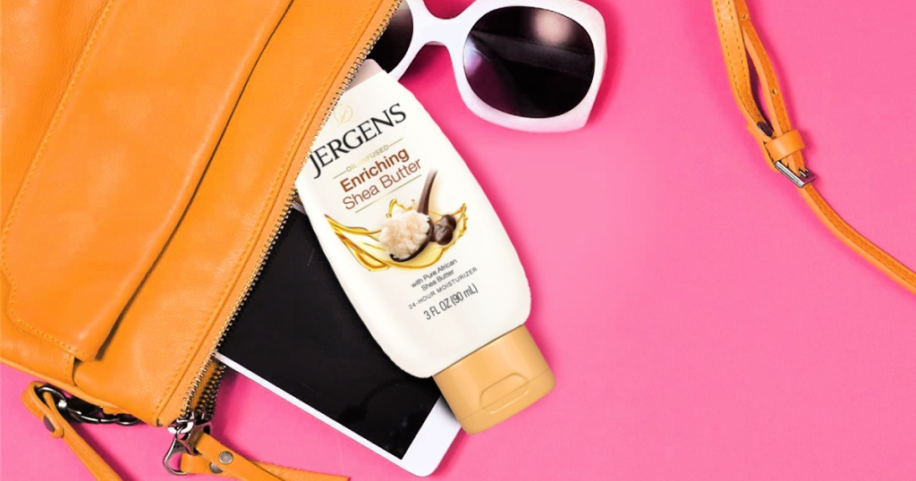 Jergens Motion Size Lotion Lone $1 Shipped On Amazon   Large For Purse Or Gym Bag