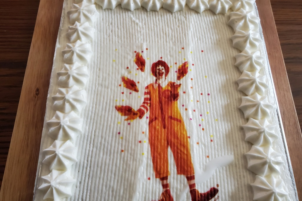 Mcdonald's birthday cake