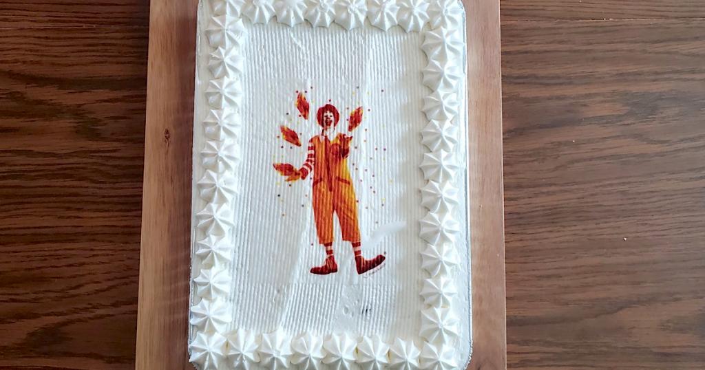 McDonald's sheet cake