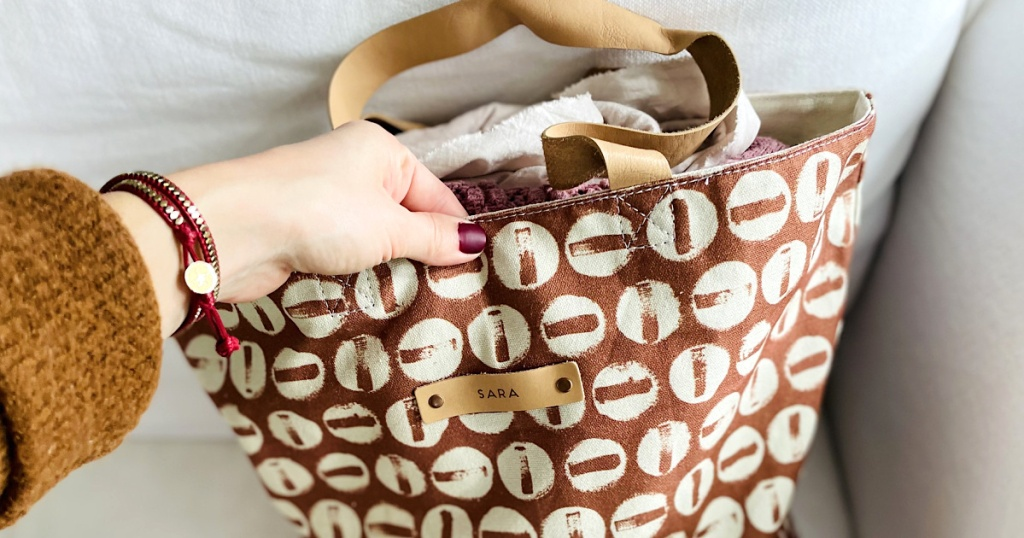 Get Escaped Personalization On These Team-fave Minted Bags W/ Leather Straps (  20% Off!)