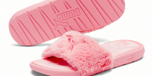 Up to 70% Off PUMA Shoes & Apparel   Fluffy Slides ONLY $12.99 & More