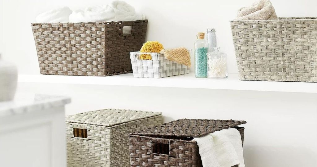 Retention Baskets & Totes From $5 On Kohls.com   Woven, Ligament & Canvas Styles