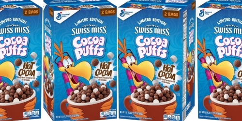 Double Box of the New Swiss Miss Cocoa Puffs Just $5.64 at Sam's Club