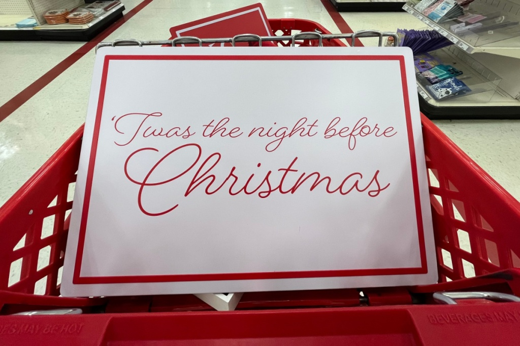 hanging christmas sign from target
