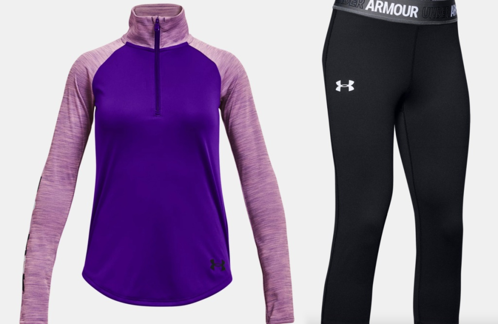 under amour girls apparel hoodie + pants