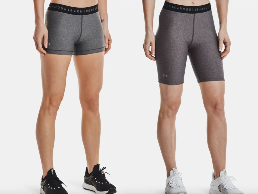two under armour bike shorts